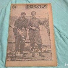 Militaria: FOTOS, SEMANARIO GRAFICO NACIONAL..3 ABRIL 1937 ..GUERRA CIVIL.. Lote 110637915