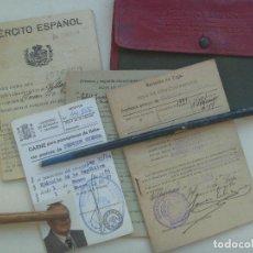 Militaria: GUERRA CIVIL : LOTE DE OFICIAL DEL EJERCITO DE LA REPUBLICA DE IGUALADA .. Lote 110653455