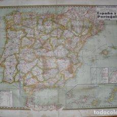 Militaria: 1938 MAPA DE ESPAÑA Y PORTUGAL PALUZIE. Lote 110894479