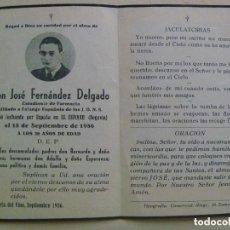 Militaria: GUERRA CIVIL : RECORDATORIO MILITANTE FALANGE MUERTO LUCHANDO POR ESPAÑA . ESPINAR ( SEGOVIA ) 1936.. Lote 111028391