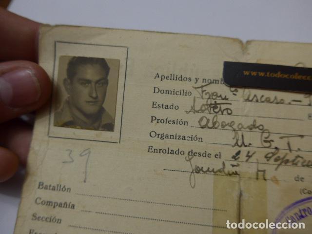 Militaria: * Antiguo carnet republicano original de militar afiliado UGT de Gandia. Valencia. Guerra civil. ZX - Foto 2 - 111898919