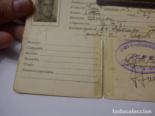 Militaria: * Antiguo carnet republicano original de militar afiliado UGT de Gandia. Valencia. Guerra civil. ZX - Foto 3 - 111898919