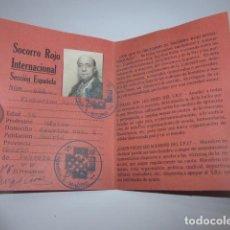Militaria: * ANTIGUO CARNET REPUBLICANO ORIGINAL DE BRIGADAS INTERNACIONALES, ITALIA. SRI. GUERRA CIVIL. ZX. Lote 111904115
