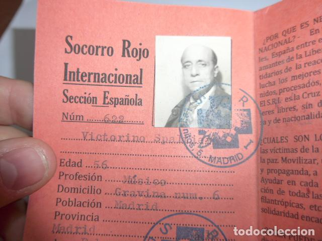 Militaria: * Antiguo carnet republicano original de brigadas internacionales, Italia. SRI. Guerra civil. ZX - Foto 2 - 111904115