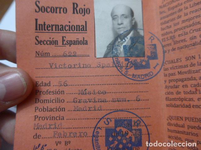 Militaria: * Antiguo carnet republicano original de brigadas internacionales, Italia. SRI. Guerra civil. ZX - Foto 3 - 111904115