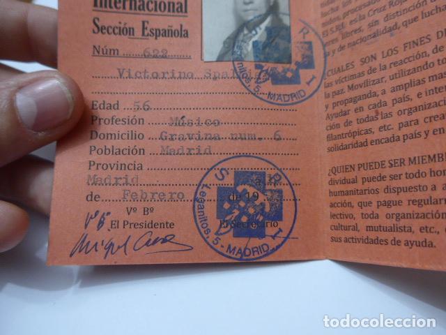 Militaria: * Antiguo carnet republicano original de brigadas internacionales, Italia. SRI. Guerra civil. ZX - Foto 4 - 111904115