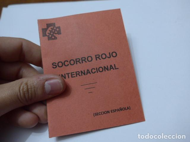 Militaria: * Antiguo carnet republicano original de brigadas internacionales, Italia. SRI. Guerra civil. ZX - Foto 6 - 111904115