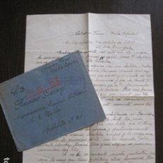 Militaria: GUERRA CIVIL - CIVIL WAR - CARTA ENVIADA DESDE EL FRENTE - 9 - OCTUBRE 1938 -VER FOTOS-(V-13.410). Lote 112250651