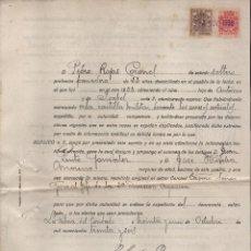Militaria: LA PALMA DEL CONDADO- HUELVA- FIRMAS ORIGINALES DEL ALCALDE ,SECRETARIO, Y TESTIGOS, VER FOTOS. Lote 112607103