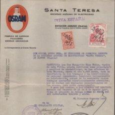 Militaria: JABUGO- HUELVA-EMPRESA SANTA TERESA, AL COMANDANTE MILITAR, FIRMAS ORIGINALES, VER FOTO . Lote 112608051