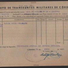 Militaria: HUELVA, CAJA RECLUTA Nº 12, HABERES, VER FOTO. Lote 112606607