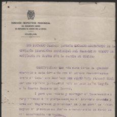 Militaria: HUELVA, MUTILADOS DE GUERRA POR LA PATRIA, -LEGIONARIO 4º BANDERA DEL TERCIO- VER FOTO. Lote 112689411