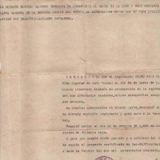 Militaria: DAR-RIFFIEN(MARRUECOS) CERTIFICADO. HERIDO EN EL FRENTE DEL EBRO YOPERACIONES VILLALBA BAJA, 10-2-38. Lote 112691095