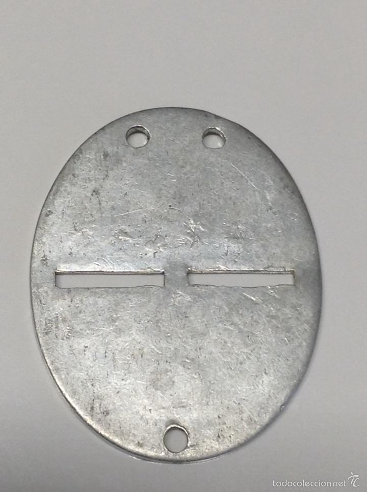 Militaria: Medalla Placa identificación Ejercito Nacional Guerra Civil - Foto 2 - 114711294