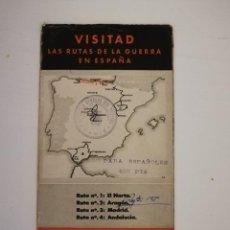 Militaria: FOLLETO TURISTICO.VISITAD LAS RUTAS DE LA GUERRA CIVIL ESPAÑOLA ESPAÑA 1938(RUTA Nº1 NORTE).NACIONAL. Lote 115574791
