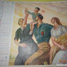 Militaria: ANTIGUA LÁMINA DE ALMANAQUE MES DE MAYO DE 1939 DIBUJO DE CARLOS SÁENZ DE TEJADA - GUERRA CIVIL. Lote 115977203