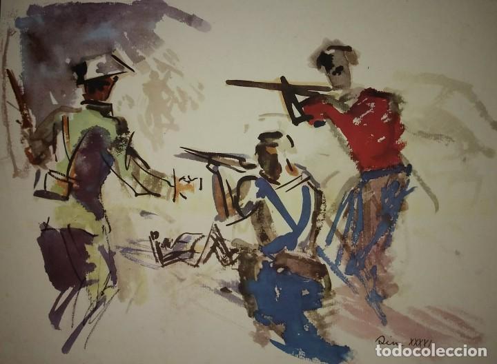 ESTAMPA DE LA REVOLUCIÓN ESPAÑOLA POR SIM 1936 GUERRA CIVIL. C.N.T. F.A.I. LÁMINA DEL LIBRO (Militar - Guerra Civil Española)