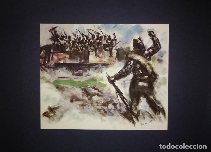 Militaria: Estampa de la revolución Española por Sim 1936 Guerra Civil. C.N.T. F.A.I. Lámina del libro - Foto 2 - 116175471