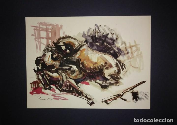 Militaria: Estampa de la revolución Española por Sim 1936 Guerra Civil. C.N.T. F.A.I. Lámina del libro - Foto 2 - 116175495