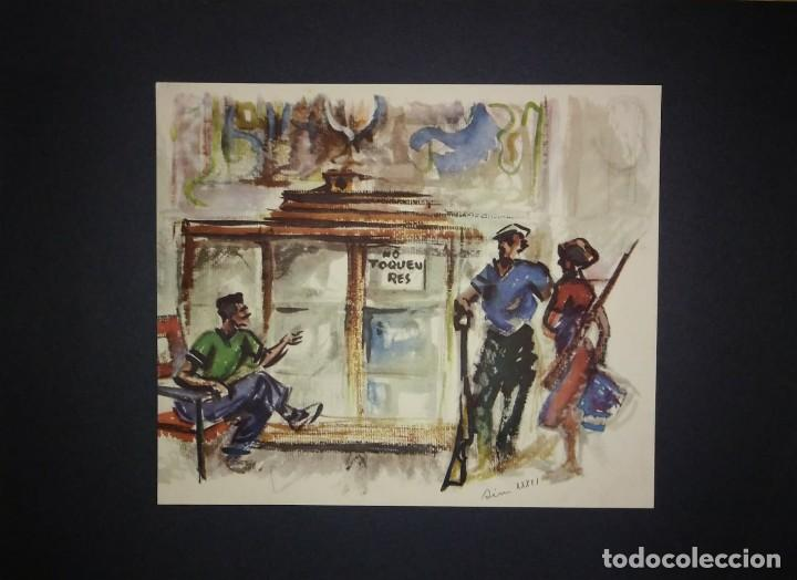 Militaria: Estampa de la revolución Española por Sim 1936 Guerra Civil. C.N.T. F.A.I. Lámina del libro - Foto 2 - 116175531