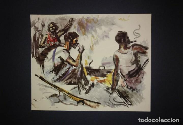Militaria: Estampa de la revolución Española por Sim 1936 Guerra Civil. C.N.T. F.A.I. Lámina del libro - Foto 2 - 116175551