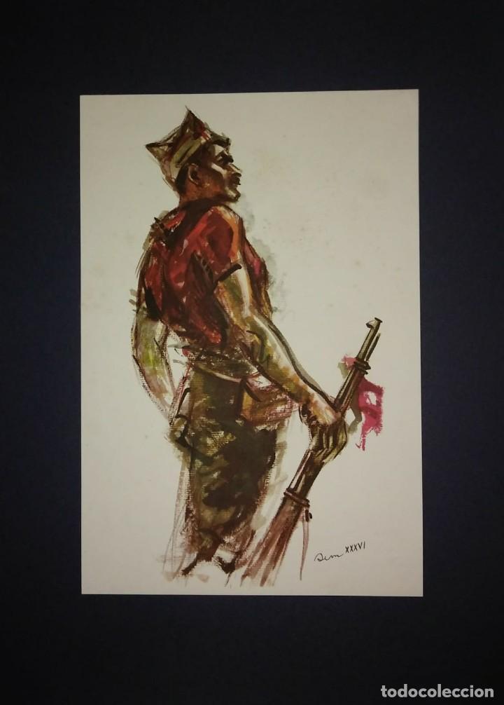 Militaria: Estampa de la revolución Española por Sim 1936 Guerra Civil. C.N.T. F.A.I. Lámina del libro - Foto 2 - 116175587
