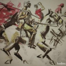 Militaria: ESTAMPA DE LA REVOLUCIÓN ESPAÑOLA POR SIM 1936 GUERRA CIVIL. C.N.T. F.A.I. LÁMINA DEL LIBRO. Lote 116175675