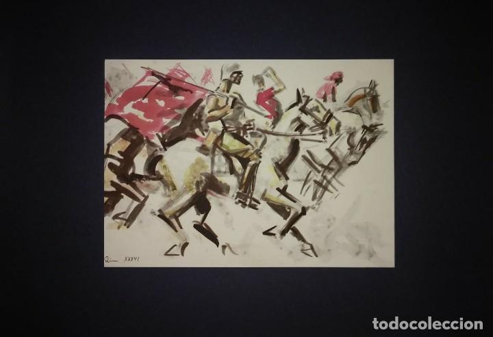 Militaria: Estampa de la revolución Española por Sim 1936 Guerra Civil. C.N.T. F.A.I. Lámina del libro - Foto 2 - 116175675