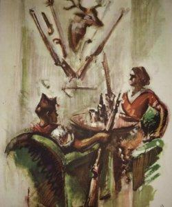 Estampa de la revolución Española por Sim 1936 Guerra Civil. C.N.T. F.A.I. Lámina del libro