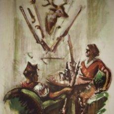 Militaria: ESTAMPA DE LA REVOLUCIÓN ESPAÑOLA POR SIM 1936 GUERRA CIVIL. C.N.T. F.A.I. LÁMINA DEL LIBRO. Lote 116175687
