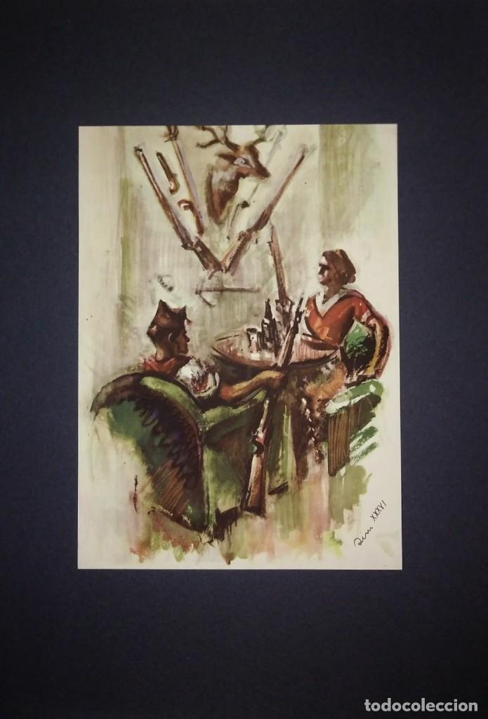 Militaria: Estampa de la revolución Española por Sim 1936 Guerra Civil. C.N.T. F.A.I. Lámina del libro - Foto 2 - 116175687