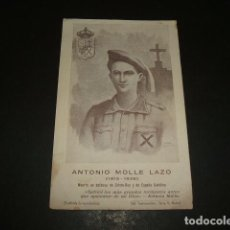 Militaria: ANTONIO MOLLE LAZO MARTIR GUERRA CIVIL 1936 PEÑAFLOR SEVILLA RECORDATORIO . Lote 116232843