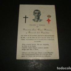 Militaria: FRANCISCO LUIS PEREZ MIRAVETE MARTIR GUERRA CIVIL 1936 MADRID CHECA PALACETE MONCLOA RECORDATORIO . Lote 116232923