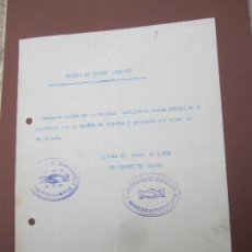Militaria: COMITE DE ENLACE MONZON , 1936 AGRUPACION DE IZQUIERDAS , SANDICATO CNT - AIT , COMITE BINEFAR . Lote 116917839