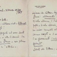 Militaria: PROCLAMA VICTORIA ALICANTE GENERAL GAMBARA DIVISION LITTORIO MARZO 1939 GUERRA CIVIL. Lote 117047023