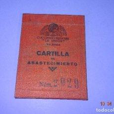 Militaria: CARTILLA BANDO REPUBLICANO DE COOPERATIVA DE CONSUMO VALENCIANA LA UNION GUERRA CIVIL 1938. Lote 117682583