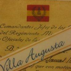 Militaria: COMANDANTE JEFE BATALLONES INGENIEROS INVITACION A CAPITAN B.L.M. LINEA DE CONCEPCION 1943. Lote 117688987