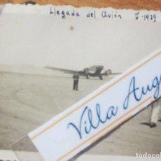 Militaria: FOTO ORIGINAL AVIACION OFICIALES Y AVION LEGION GUERRA CIVIL SIDI IFNI V 1939. Lote 138636360