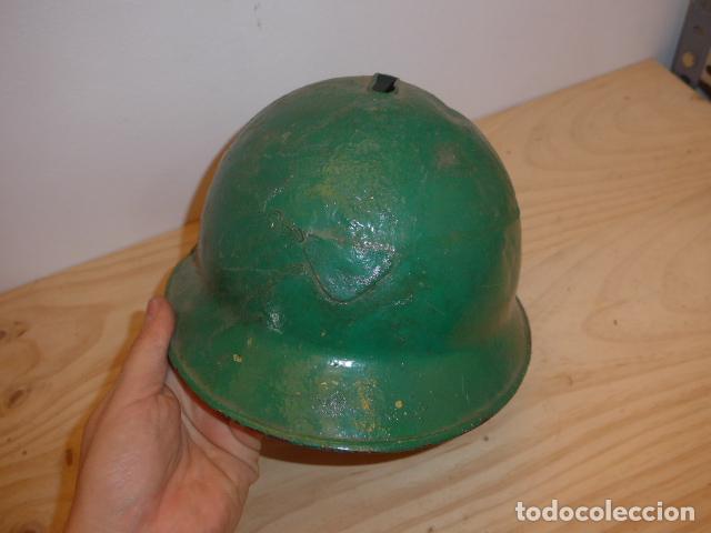 Militaria: Antiguo casco adrian italiano de recuperacion de guerra civil, original. - Foto 2 - 118118395