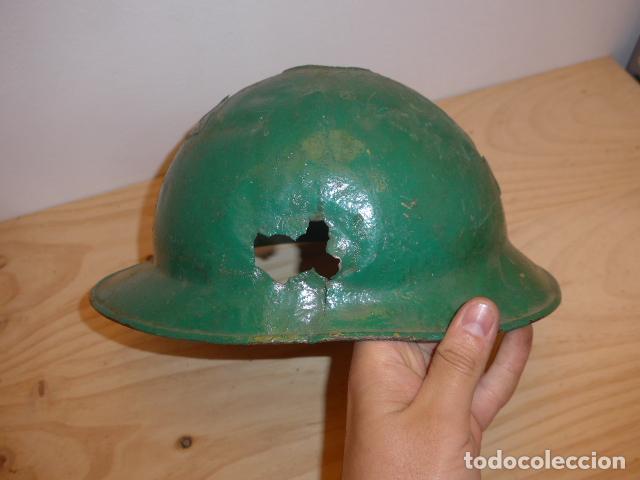 Militaria: Antiguo casco adrian italiano de recuperacion de guerra civil, original. - Foto 3 - 118118395