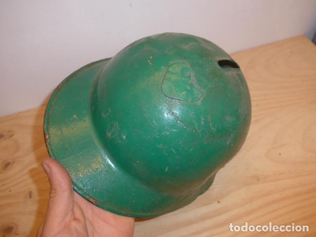Militaria: Antiguo casco adrian italiano de recuperacion de guerra civil, original. - Foto 4 - 118118395