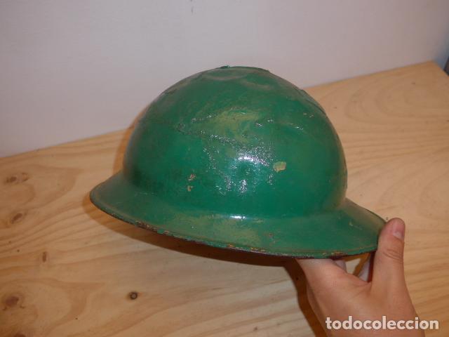 Militaria: Antiguo casco adrian italiano de recuperacion de guerra civil, original. - Foto 6 - 118118395