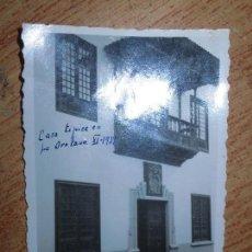 Militaria: FOTO ORIGINAL IMPORTANTE EDIFICIO HISTORICO OROTAVA TENERIFE 1938 GUERRA CIVIL ESPAÑA. Lote 118728043