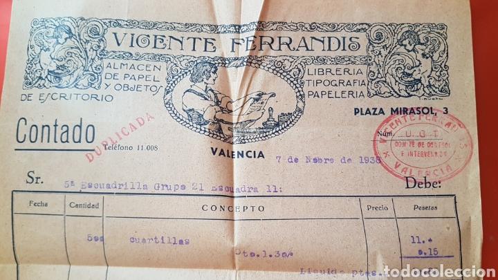 GUERRA CIVIL UGT FACTURA A 5A ESCUADRILLA GRUPO 21 ESCUADRA 11 (Militar - Guerra Civil Española)