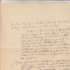 Militaria: COMITE REVOLUCIONARIO DE DEFENSA - U.G.T. - P.C. - I. R. - MURO DE ALCOY - 6 DE SEPTIEMBRE DE 1936. Lote 119352275