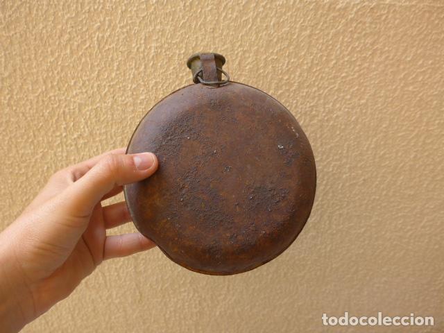 Militaria: * Antigua cantimplora republicana, tipo columna de hierro, guerra civil, original. ZX - Foto 4 - 120909379