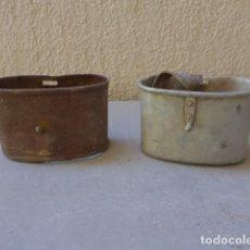 Militaria: * LOTE 2 ANTIGUO CACILLO DE TROPA DE GUERRA CIVIL, ORIGINALES. ZX. Lote 121896659