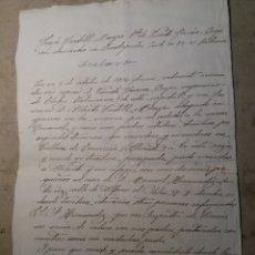 Militaria: GUERRA CIVIL , DECLARACIÓN DE UN ASESINATO .. Lote 121929034