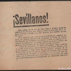 Militaria: SEVILLA, OCTAVILLA, EL TREN DE IRUN LLEGA A SEVILLA. RENDIR HOMENAJE A GENERAL QUEIPO.MIDE:16 X 13 C. Lote 121966255