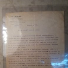 Militaria: DOCUMENTO FIMADO JOSÉ GIRAL , SERA PRESIDENTE DE GOBIERNO DE LA REPÚBLICA ESPAÑOLA 1936. Lote 122039942